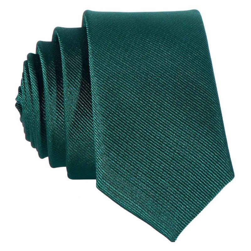 DonDon Krawatte »schmale Krawatte 5 cm unifarben« (1-St) matt, glänzend, gestreift, Seidenlook