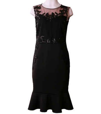 LIPSY Cocktailkleid »LIPSY LONDON Cocktail-Kleid elegantes Damen Abend-Kleid Mini-Kleid mit Herz-Ausschnitt Schwarz«