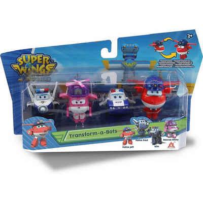 Super Wings Spielzeug-Flugzeug »Super Wings Transform-a-Bots 4er Set: Police Jett,«