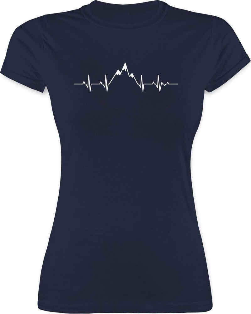 Shirtracer T-Shirt »Herzschlag Berge - Symbol und Zeichen Outfit - Damen Premium T-Shirt« Geschenkidee