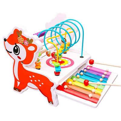 BeebeeRun Lernspielzeug »Bunte Abacus Circle Lernspiele für Kleinkinder«, mit Xylophon-Musikinstrumenten