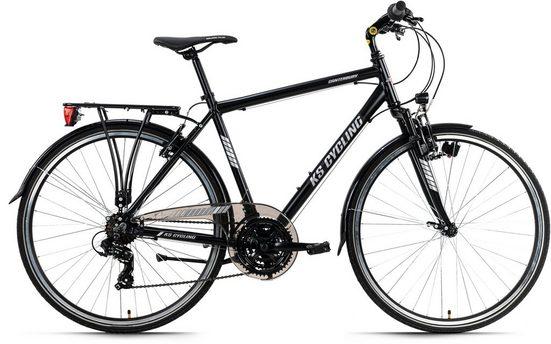 KS Cycling Trekkingrad »Canterburry«, 21 Gang Shimano Tourney Schaltwerk, Kettenschaltung