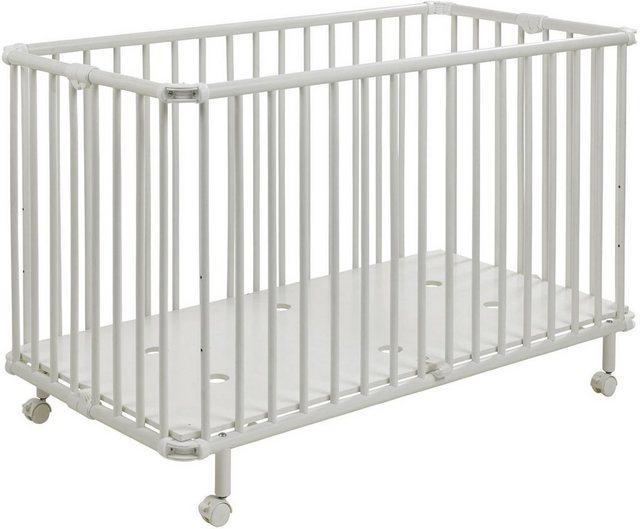 Babybetten - Geuther Babybett »Mayla, weiß«, platzsparend zusammenklappbar Made in Europe  - Onlineshop OTTO