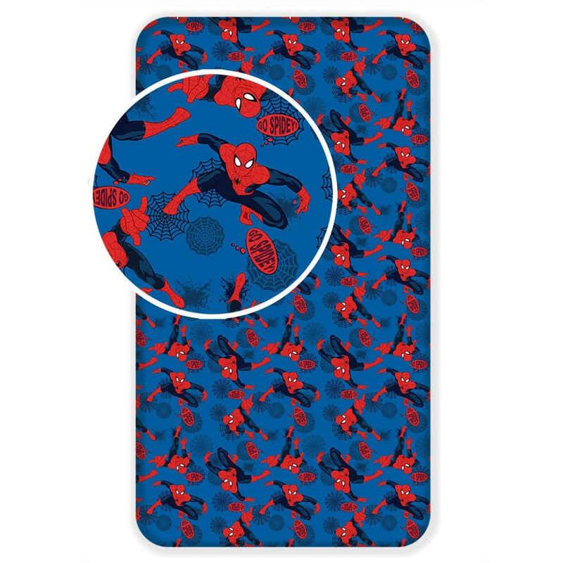 Spannbettlaken »Spiderman Bettlaken«, MARVEL, 90x200 cm, 100% Baumwolle