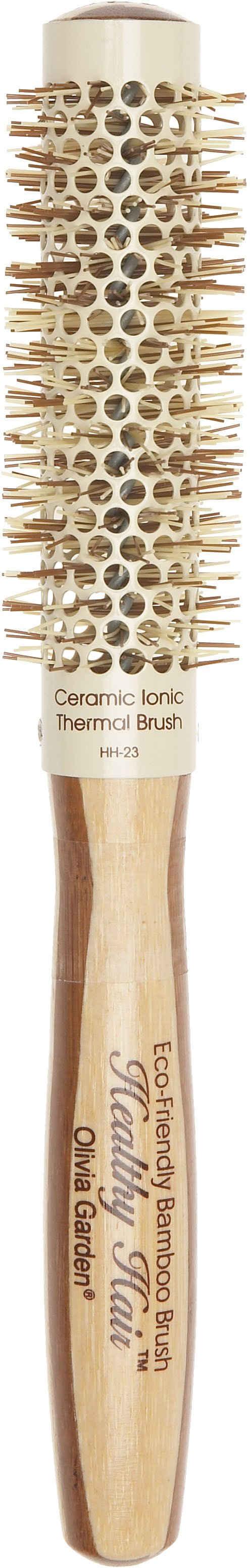 OLIVIA GARDEN Rundbürste »Healthy Hair Bambus Thermal«, Rundbürste aus Bambusholz und Keramikbeschichtetem Bürstenkörper