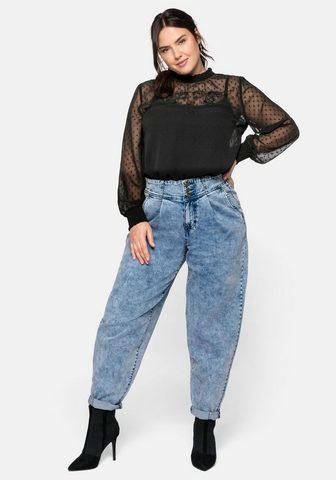 Sheego Stretch-Jeans in Moonwashed-Optik su B...