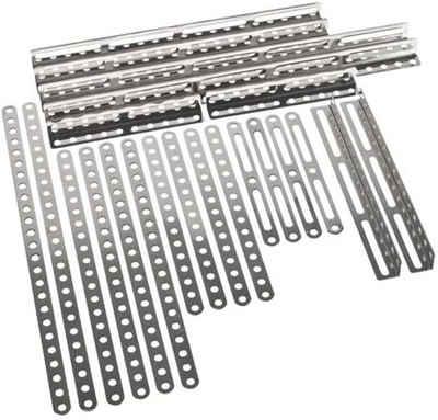Eitech Metallbaukasten »Eitech 00101 Ergänzungs Metallbauteile-Winkel, Flachstäbe mit 11-25 Löchern«, (25 St)