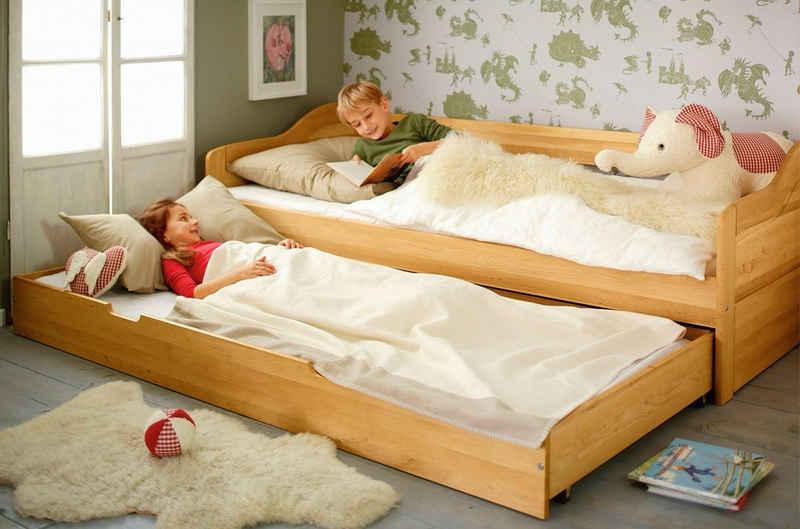 BioKinder - Das gesunde Kinderzimmer Funktionsbett »Nico«, 90x200 cm Schlafsofa mit Bettkasten und 2 Lattenrosten