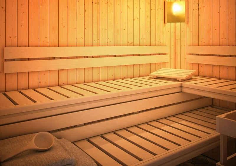 Karibu Sauna-Rückenlehne »Premium Set 3«, inkl. Bankblende