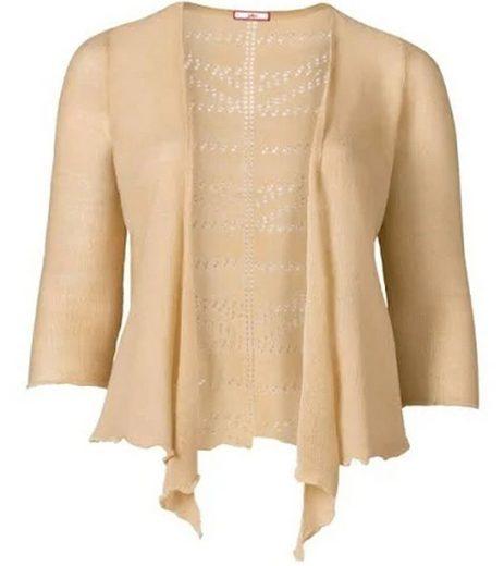 Joe Browns Outdoorjacke »Joe Browns modische Damen Strick-Jacke mit Lochmuster Freizeit Große Größen Beige«