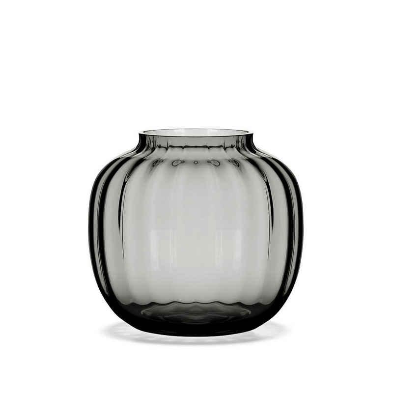 HOLMEGAARD Tischvase »Ovale Vase PRIMULA 12.5 cm, smoke«, Öffnung 7 cm