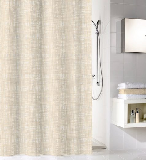Kleine Wolke Duschvorhang »Linen« Breite 180 cm, 180 cm Breite