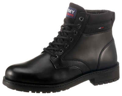 Tommy Jeans »CLASSIC SHORT LACE UP BOOT« Schnürboots mit Gummilaufsohle