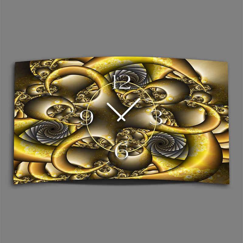 dixtime Wanduhr »Abstrakt Fraktal Designer Wanduhr modernes Wanduhr« (Einzigartige 3D-Optik aus 4mm Alu-Dibond)