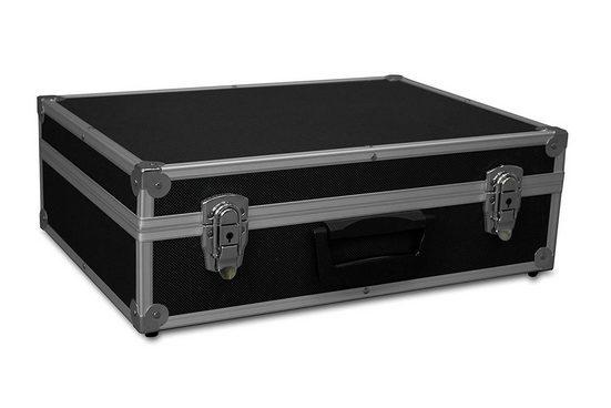 GORANDO Werkzeugkoffer »Transport-Koffer schwarz mit Aluminiumrahmen 440x300x130mm Alukoffer - Würfelschaum« (1 Stück)