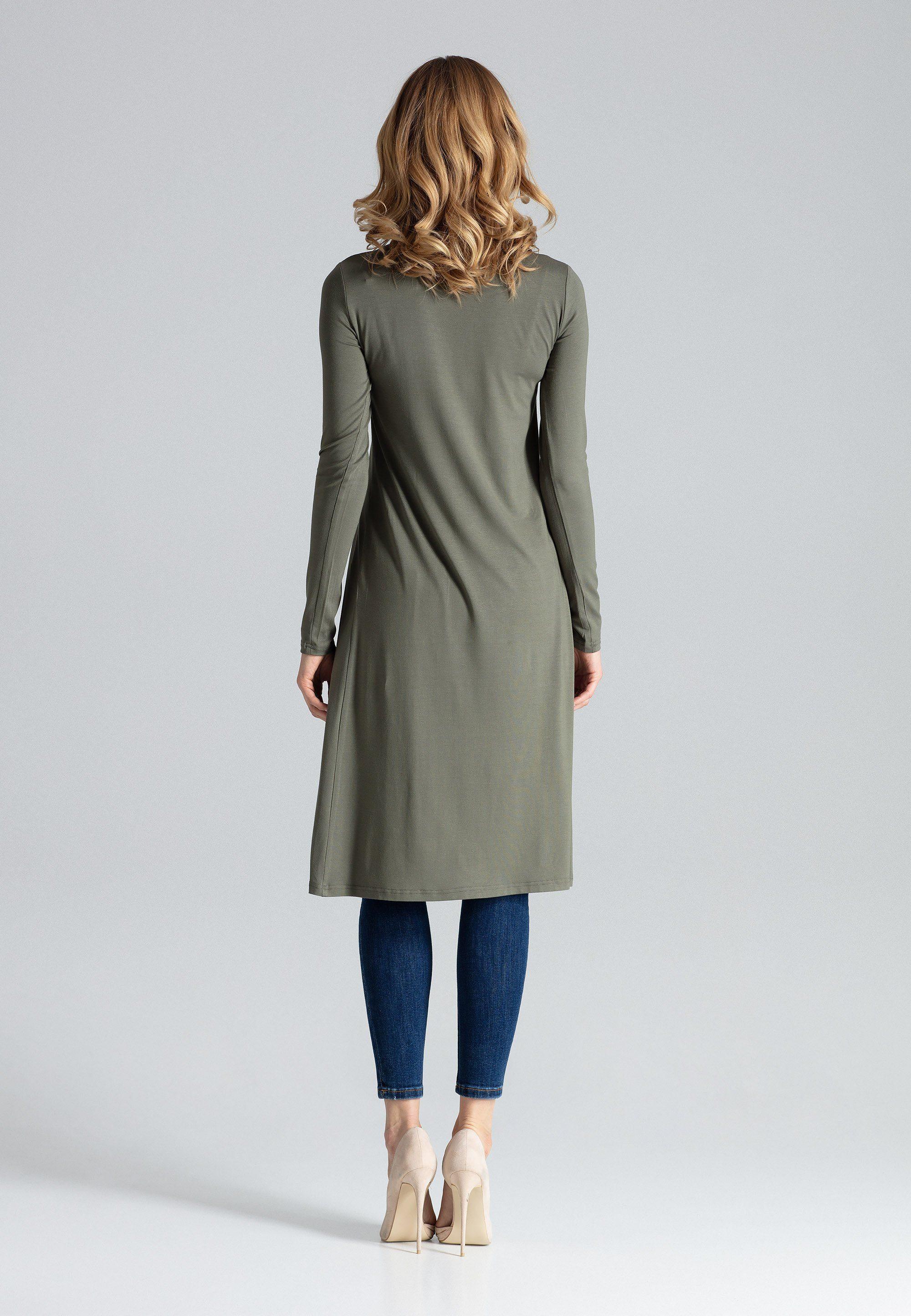 FIGL Jerseykleid mit langem Schlitz, Modisches Kleid der Marke FIGL XyJpah