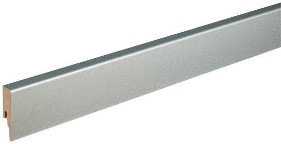 MODERNA Sockelleiste »ASL 60 Edelstahl«, L: 238 cm, H: 6 cm, Packung