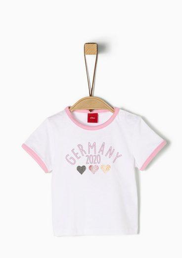 s.Oliver Langarmshirt »T-Shirt mit Fußball-Motiv« (1-tlg)