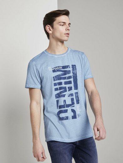 TOM TAILOR Denim T-Shirt »Indigo T-Shirt mit Print«