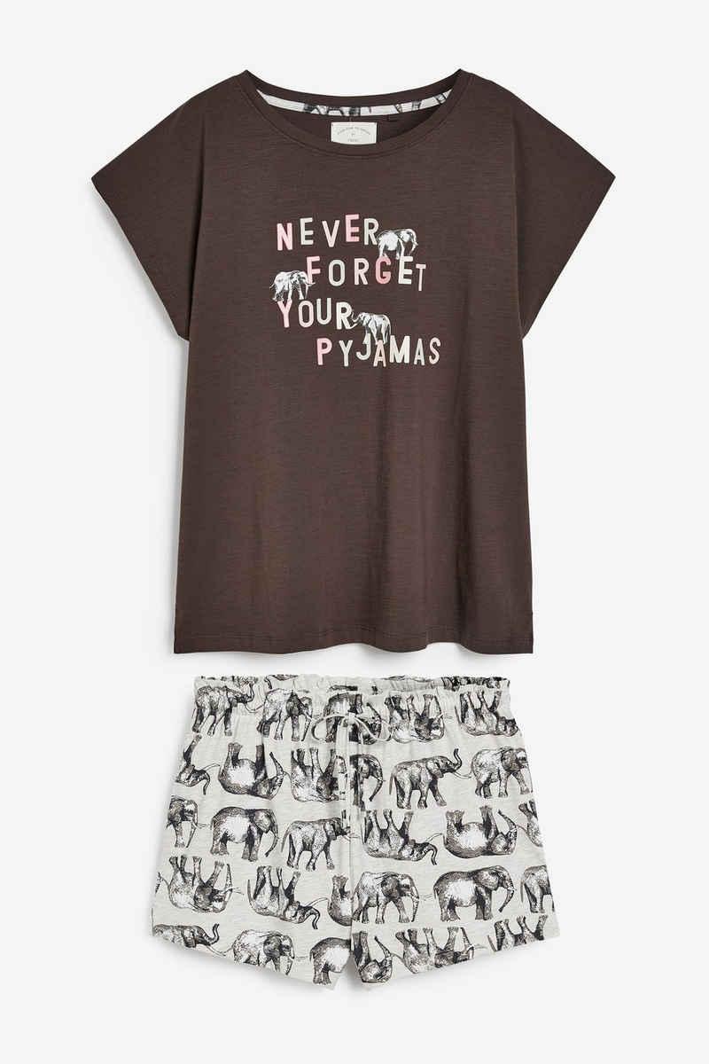 Next Pyjama »Kurzer Baumwollpyjama« (2 tlg) Short Set