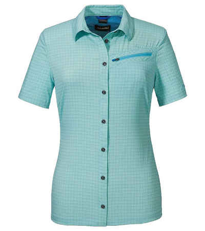 Schoeffel Hemdbluse »Schöffel Saragossa2 UV Bluse funktionelle Damen Kurzarm-Bluse Fair Wear Wander-Hemd Türkis«