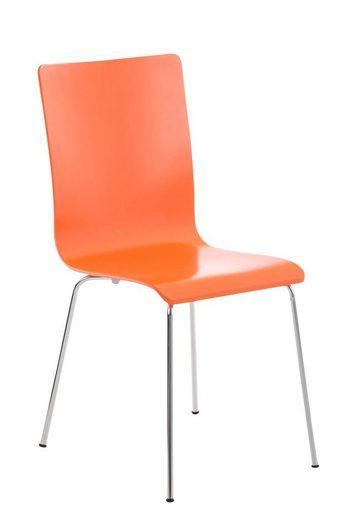 CLP Besucherstuhl »Pepe« mit ergonomisch geformten Holzsitz und Metallgestell