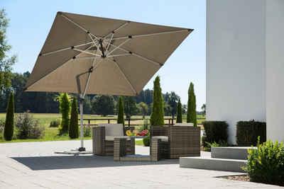 Schneider Schirme Ampelschirm »Monaco«, LxB: 300x300 cm, mit Schutzhülle und Schirmständer, ohne Wegeplatten