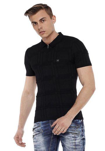 Cipo & Baxx Poloshirt »Alpha« in tollem Strick-Design