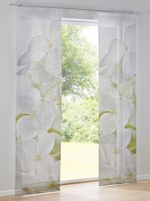 heine home Schiebevorhang mit Bambusoptik | Heimtextilien > Gardinen und Vorhänge > Schiebegardinen und Schiebevorhänge | Weiß | Polyester | heine home