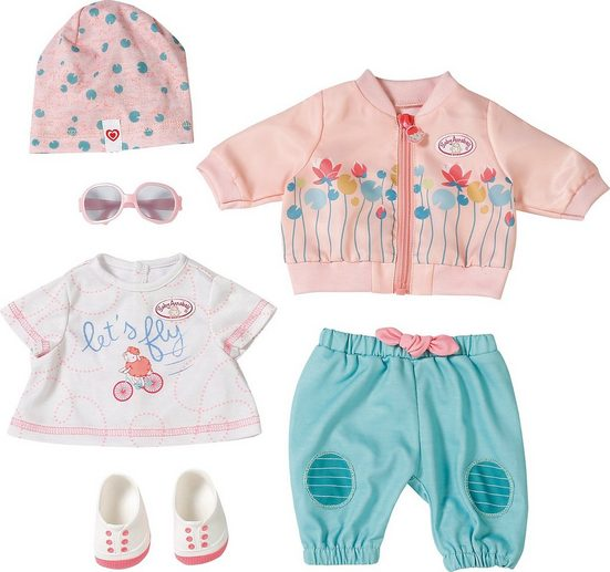Zapf Creation® Puppenkleidung »Baby Annabell Active Deluxe Set, Fahrrad Outfit«