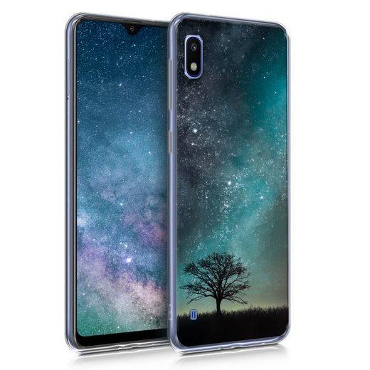 kwmobile Handyhülle, Hülle für Samsung Galaxy A10 - TPU Silikon Handy Schutzhülle Cover Case - Galaxie Baum Wiese Design