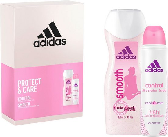 adidas Performance Geschenk-Set »Control & Smooth«, 2-tlg.