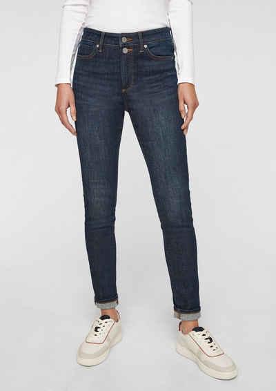 s.Oliver 5-Pocket-Jeans »Skinny: Skinny leg-Jeans« Waschung, Leder-Patch