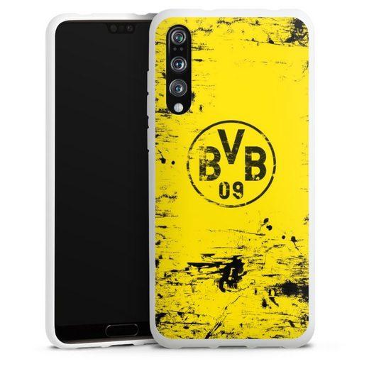 DeinDesign Handyhülle »BVB Destroyed Look« Huawei P20 Pro, Hülle Borussia Dortmund Offizielles Lizenzprodukt BVB