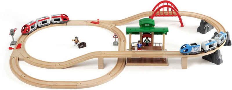BRIO® Spielzeug-Eisenbahn »BRIO® WORLD Großes Bahn Reisezug Set«, (Set), Made in Europe, FSC®-Holz aus gewissenhaft bewirtschafteten Wäldern
