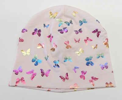 Chaplino Beanie mit Schmetterlingsdruck in Regenbogenfarben