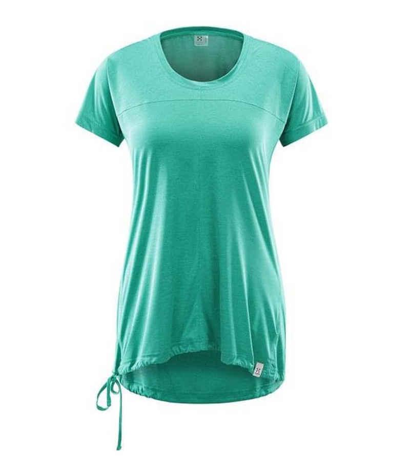 Haglöfs Funktionsshirt »Haglöfs Ridge Tee Funktions-Shirt atmungsaktives Damen Sport-Shirt Trainings-Shirt Grün«