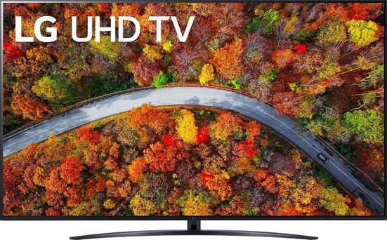 LG 70UP81009LR LCD-LED Fernseher (177 cm/70 Zoll, 4K Ultra HD, Smart-TV, LG Local Contrast, Sprachassistenten, HDR10 Pro, LG ThinQ, inkl. Magic-Remote Fernbedienung)