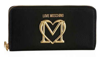 LOVE MOSCHINO Geldbörse, mit vergoldetem Logo auf der Vorderseite