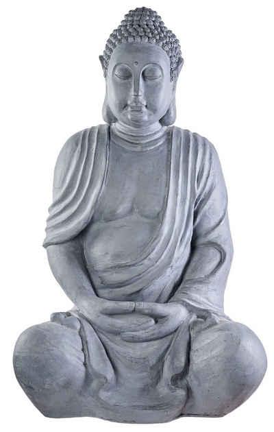 NEUSTEIN Buddhafigur »XXXL Großer Buddha 100 cm Steinoptik Garten Deko Figur Skulptur Feng Shui sitzend Steinfigur-Optik«