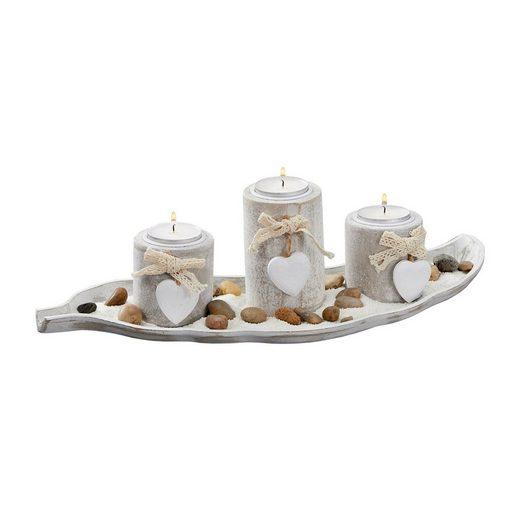 HTI-Living Windlicht »Teelichthalter mit Tablett und Zubehör« (5 Stück)