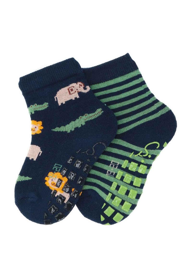 Sterntaler® ABS-Socken »ABS-Söckchen Doppelpack Safari« (2-Paar) ABS-Noppen auf der Sohle