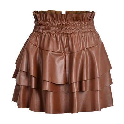 LAPA Sommerrock »Damen Leder kurze Röcke Mode Röcke Rock mit hoher Taille«