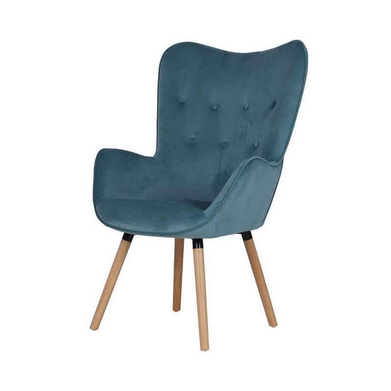 SVITA Chesterfield-Sessel »CLEO« (5-St., Ohrensessel), Knopfsteppung im Polster, Bodenschoner zum Schutz Ihres Bodens, hohe Rückenlehen