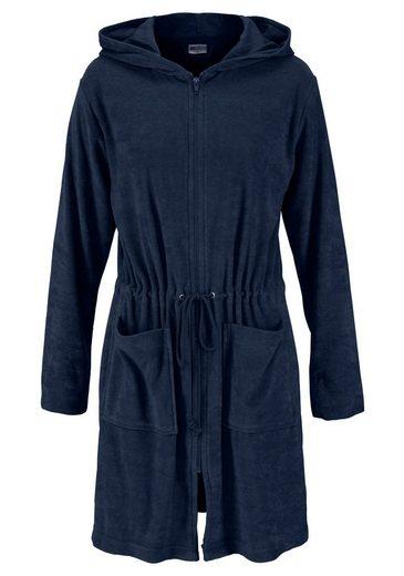 Damenbademantel »Nela«, my home Selection, mit praktischem Reißverschluss