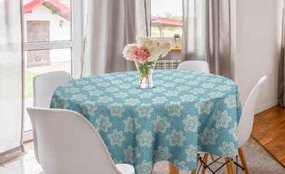 Abakuhaus Tischdecke »Kreis Tischdecke Abdeckung für Esszimmer Küche Dekoration«, Blumen Damast-Spitze-Blick-Blumen-Kunst