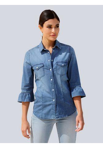 Alba Moda Jeansbluse in gražus Jeans-Qualität