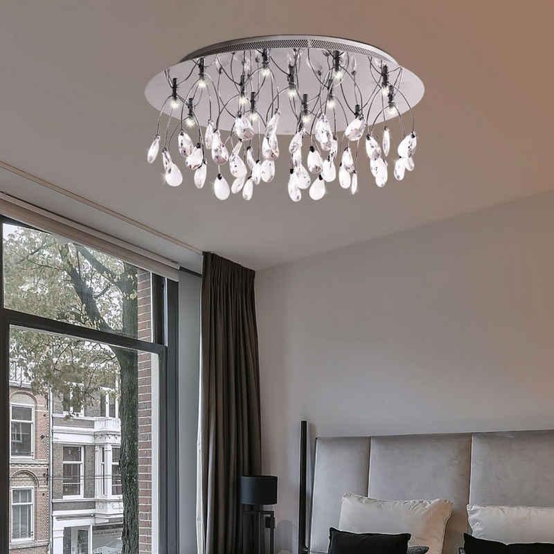 WOFI Deckenstrahler, Desinger Glas Tropfen Leuchte Krstall Decken Lampe Wohnzimmer Beleuchtung 9073.15.01.0000