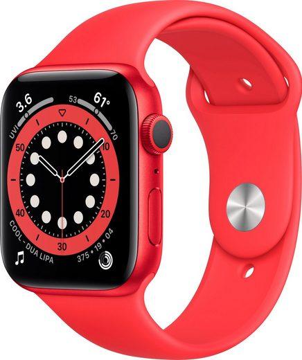 Apple Series 6 GPS, Aluminiumgehäuse mit Sport 40mm Watch (Watch OS 6), inkl. Ladestation (magnetisches Ladekabel)