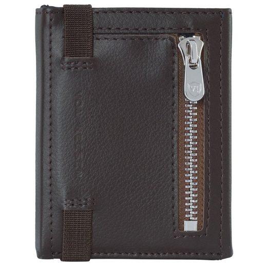 VON HEESEN Mini Geldbörse »Whizz Wallet mit 5 Kartenfächern und Mini-Münzfach (dunkelbraun)«
